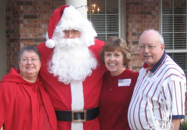Rich & Barb Cutler with Mr. & Mrs. Claus at the 2006 APN Christmas party