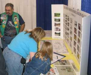 If APN has a booth at a train show, you can count on Charlie Richmond being there to man it. Here he is at the WGH show in Houston, 2006.